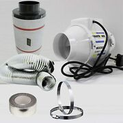 Carbon Filter Fan Kit Extractor Inline 4 5 Or 6 Grow Tent Set Hydroponics 100