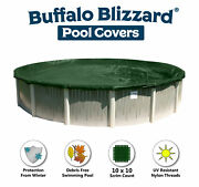 Buffalo Blizzard 21and039 Round Supreme Above Ground Swimming Pool Winter Cover