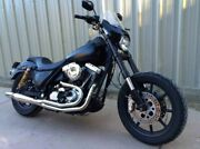 Chrome Thunderheader 2 Into 1 Full Exhaust System Pipe Harley Fxr Mid-controls