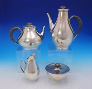 Directional By Gorham Sterling Silver Tea Set 4pc 1301 3677 Modernism