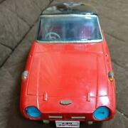 Tinplate Car Toy Toyota Sports 800 Red Vintage Rare Collectible F/s From Japan