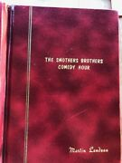 1967 Smothers Brothers Tv Martin Landau's Personal Show Script