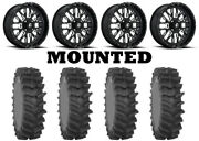 Kit 4 System 3 Xm310r Tires 36x9-20 On Fuel Stroke Gloss Black Wheels Can