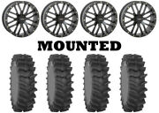 Kit 4 System 3 Xm310r Tires 35x9-20 On System 3 St-3 Matte Black Wheels Can