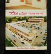 1950s Trade Winds Motor Court Interior Color Photo Birdseye Yonkers Ny Matchbook