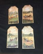 Collection Of 4 Antique Victorian Deering Advertising Trade Cards