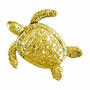 3d Sea Turtle Charm In 18k Yellow Gold