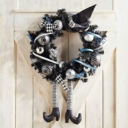 Nwt Pier 1 Imports 119 Large Wicked Witch Legs And Hat Wreath 22 Across