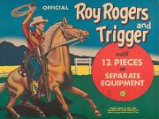 Marx Roy Rogers And Trigger 9 X 12 Sign