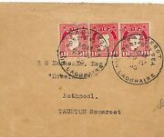 Eire Ireland 3d Rate Dun Laoghaire Paquebot Cds Cover Taunton Som 1955 Q242