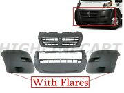 For 2014-2019 Ram Promaster Grille Front Bumper W Side Flare Upper Grille Center