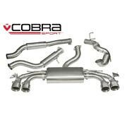 Cobra 3 Exhaust Non-res Turbo Back Valved And Decat For Audi Tts Mk3