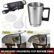 Car Truck Headlight Lens Clear System Heating Atomized Cup Repair Restore Cable