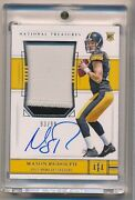 2018 National Treasures Nt Mason Rudolph 166 Rpa Rc Patch Auto /99 Steelers