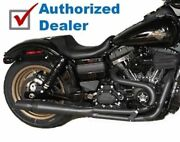 Black Thunderheader 2 Into 1 2-1 Exhaust Pipe Header System 06-17 Harley Dyna