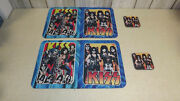Vintage Rare Kiss Placemat Set With Coasters Rock Band  Music