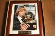 Rare Pavel Nedved Ballon Dand039or Photo Frame W/autograph From Japan F/s