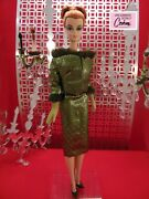 Green/gold Brocade Suit 7352e By Dressmaker Details For 12-inch Fashion Dolls