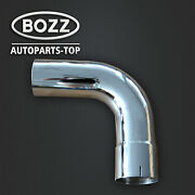 5 Id/od Chrome 90 Degree Exhaust Elbow - 15.5 Arms