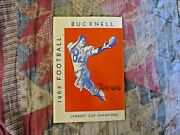 1965 Bucknell Football Media Guide Yearbook Tom Mitchell Program Press Book Ad