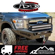 Add Honeybadger Rancher Winch Front Bumper For 11-16 Ford Super Duty F250 F350