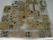 Huge Lot 31 Stampin' Up Stamp Sets 257 Total Stamps Love Christmas Baby Birthday