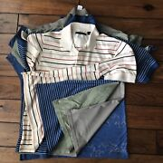 Greg Norman 5 Assorted Golf 1/2 Button Pull On Polo Shirts Size M Short Sleeve