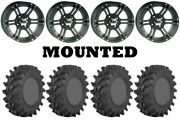 Kit 4 Sti Outback Max Tires 32x9.5-14/32x10-14 On Itp Ss212 Matte Black Can