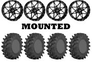 Kit 4 Sti Outback Max Tires 32x10-14 On Itp Tornado Matte Black Wheels Ter