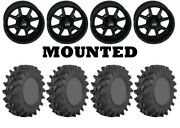 Kit 4 Sti Outback Max Tires 32x10-14 On Frontline 556 Stealth Matte Black Irs