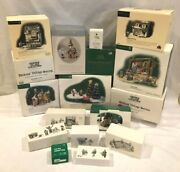 Lot Of Dept 56 Collectibles Heritage Dickens Village Buildings Accessories More