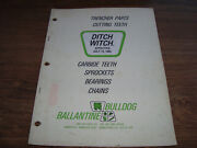 Ditch Witch Trencher Parts Cutting Teeth Booklet Iwio