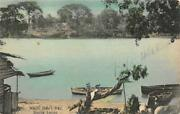 White Manand039s Bay Sierra Leone West Africa C1910s Hand-colored Vintage Postcard