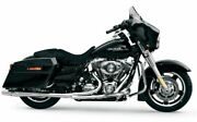 Chrome Thunderheader 2 Into 1 Exhaust Pipe System Harley Touring + Heat Shields