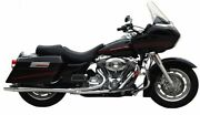 Thunderheader Chrome 2 Into 1 Exhaust Pipe W/ Heat Shields Harley Touring Bagger