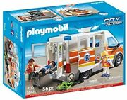 Playmobil 5541 Ambulance With Siren New Sealed Oop