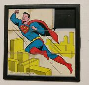 Rare Large Superman Sliding Puzzle 1966 Npp A Tot Guidance Toy