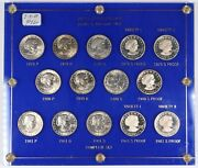 1979-1981 P/d/s United States Susan B Anthony Set W/ Case Type I And Ii Proof/unc