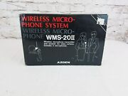 Azden Wms-20 Ii Wireless Microphone Transmitter And Reciever New Old Stock Japan