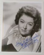 Myrna Loy 8x10 Signed Bandw Glamour Head Shot Very Clean Inscribed