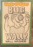 Wacky Packages 2013 Ans 10 Sketch Neil Camera 1/1 Bug Wally Wall Washer