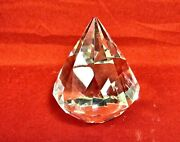 And Co Diamond Cut Paperweight Crystal Art Glass Signed - Mint