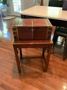 Antque Desk Box   Antique English George Iii Mahogany And Brass Writing Slope