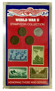 World War 2 Stamp And Coin Collection - United States Minted Coin Set