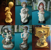 Giuseppe Armani Florence Children Figurines Party Time-my Fried- Bicycle Childre