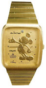 New Disney Lorus Ladies Mickey Mouse Gold Silhouette Watch Old Stock Retired