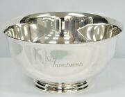 And Co. Makers Sterling Silver 23617 Paul Revere Reproduction Bowl Sei