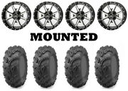 Kit 4 Maxxis Zilla Tires 27x9-12 On Frontline 556 Machined Wheels Irs