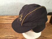 Early Rare Cub Scout Hat Cap 70 Wool Scouts Bsa Boys Ear Flaps