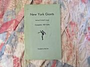 1937 New York Giants Media Guide Yearbook Program Football Press Book Magazine